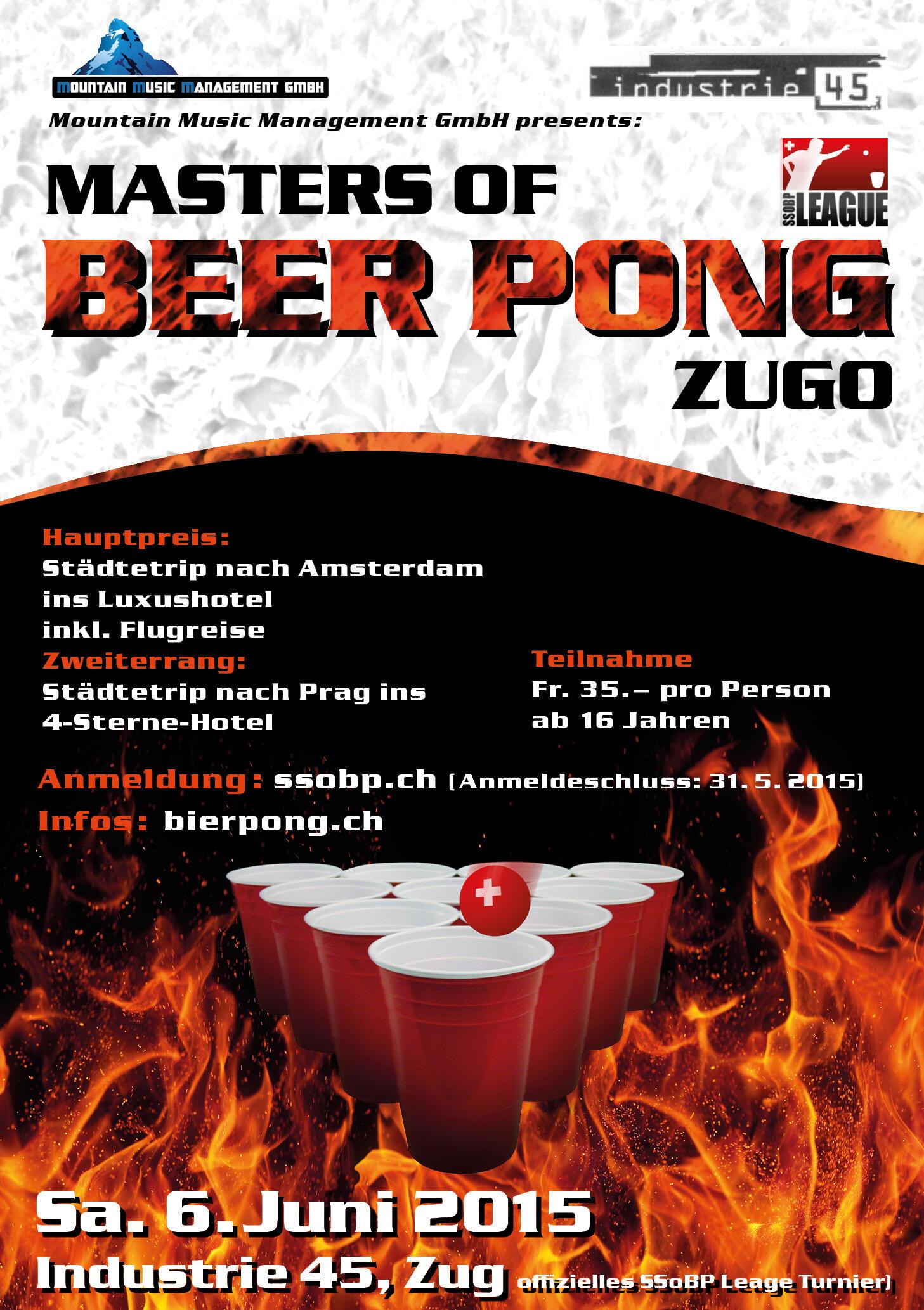 Flyer Beer Pong Turnier