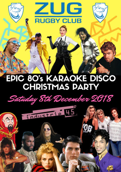 Flyer Epic 80`s Karaoke Disco Christmas Party