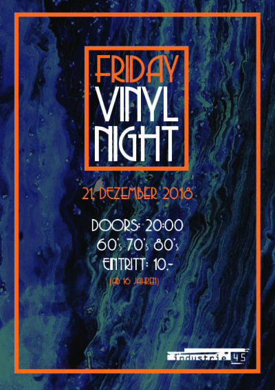 Flyer Friday Vinyl Night
