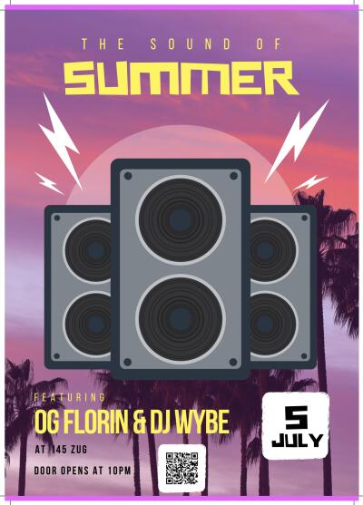 Flyer The sound of summer