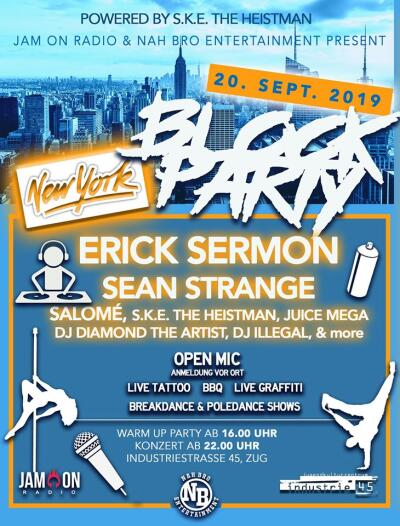 Erick Sermon (EPMD) | Support: Sean Strange, Salomé