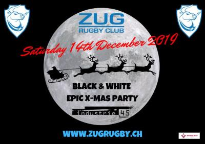 Flyer Zug Rugby Club Epic XMAS Party 2019