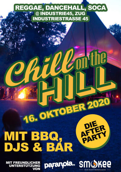 Flyer Bricks Bar: Chill On The Hill Afterparty